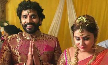 Bigg boss tamil contestant namitha ties knot with beau veerandra bigg boss tamil contestant namitha ties knot with beau veerandra see pics newsnation thecheapjerseys Choice Image
