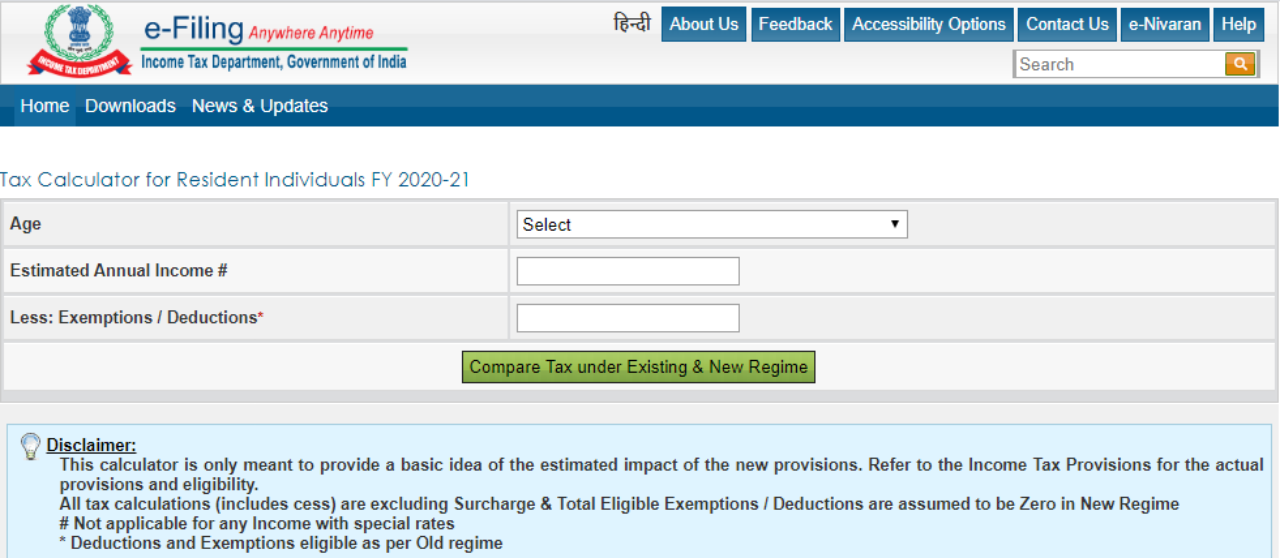 Income Tax Calculator: How To Save Money On Income Tax New ...